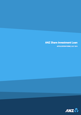ANZ Share Investment Loan application form