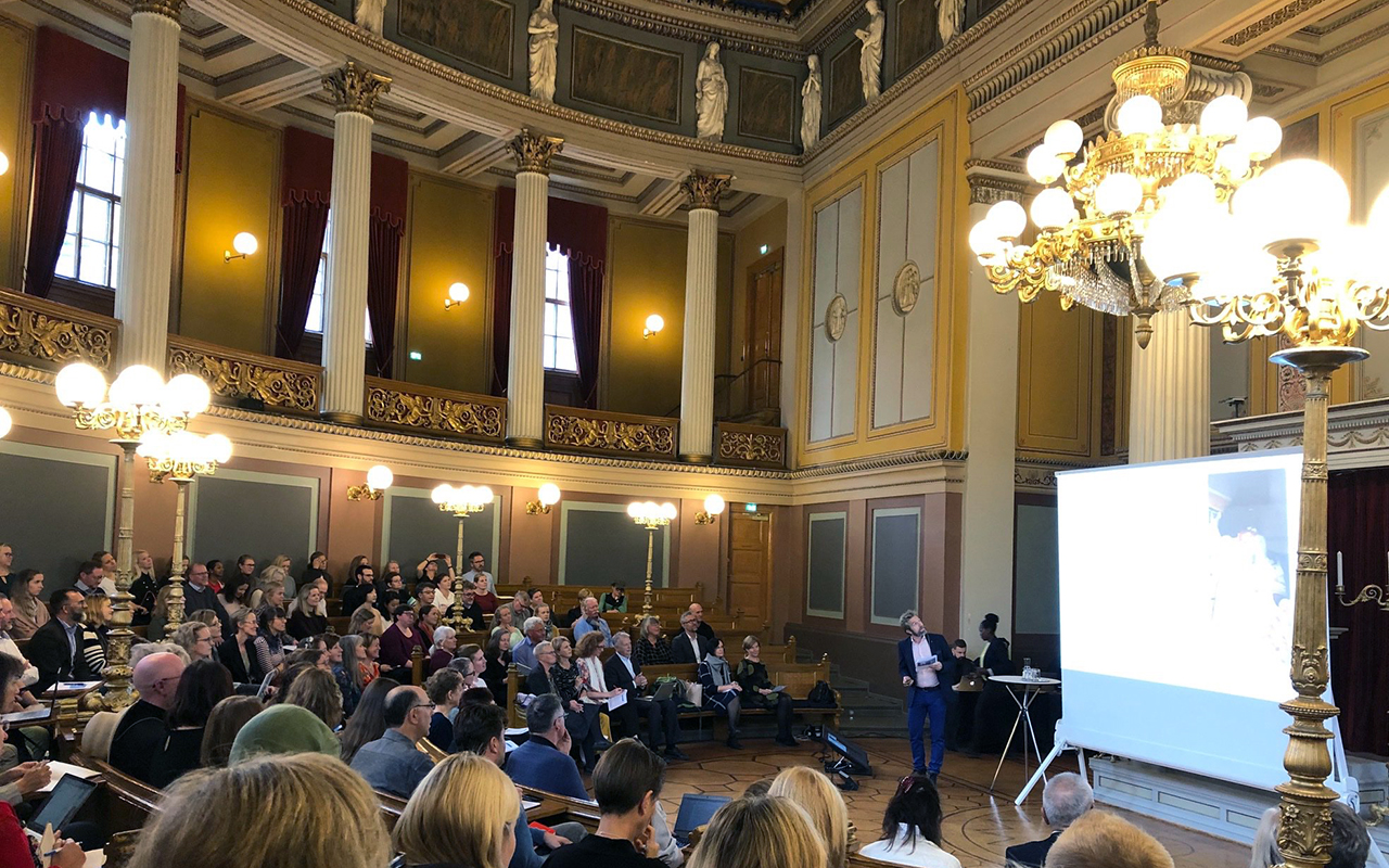 This spectacular theatre at the University of Oslo hosted pre-conference talks.